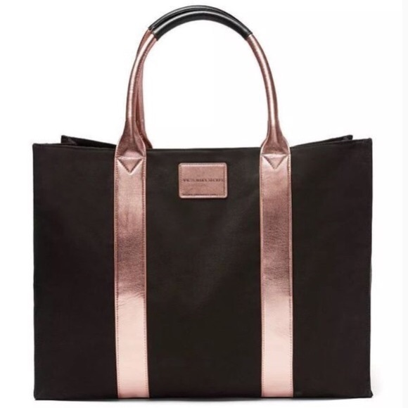 NWT VS Limited Edition Black & Rose Gold Tote